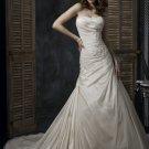 Asymmetrically Wraped Strapless A-line Wedding Dress WN0379