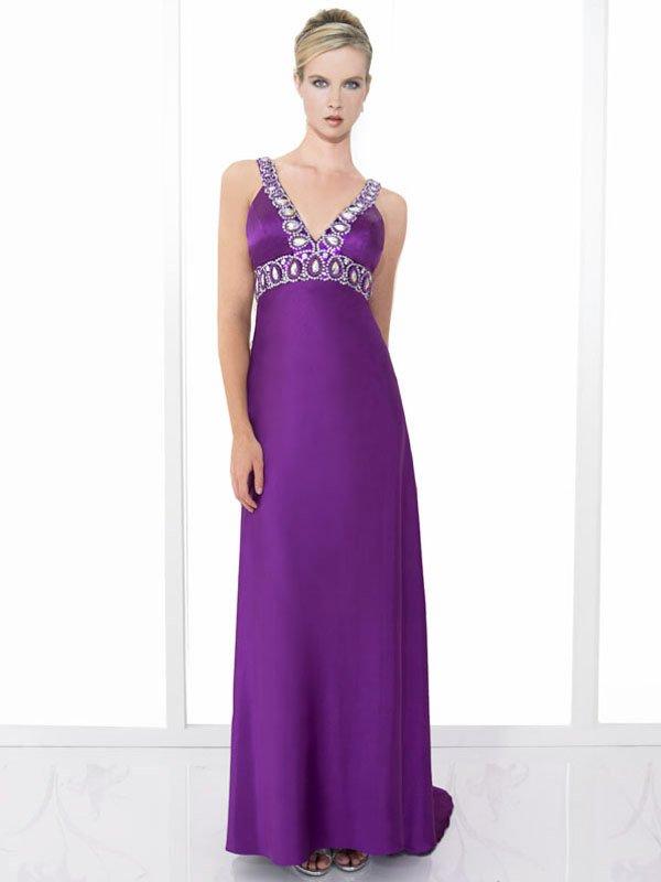 Nice Beaded Spaghetti Strap V-neck Wedding Dress DS0005