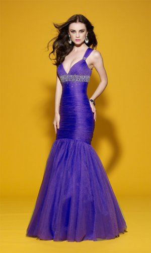 Gorgeous Wraped Bodice Mermaid Wedding Dress DS0013