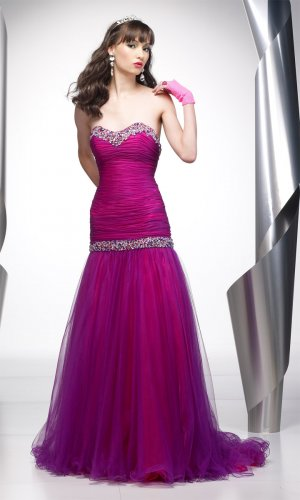 Delicate Wraped Bodice Sweetheart Strapless Wedding Dress DS0015