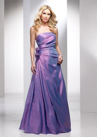 Asymmetrically Wraped Strapless A-line Wedding Dress AI0034