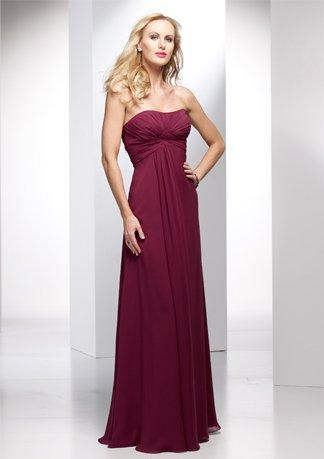 Strapless A-line Chiffon Empire Wedding Dress AI0035