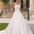Simple but Elegant Strapless A-line Wedding Dress MC0002