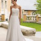 Beaded Strapless Empire Chiffon Wedding Dress MC0005