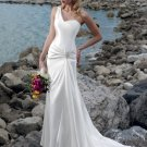 New Style One-shoulder Wedding Dress with Sweetheart Neckline WM0009