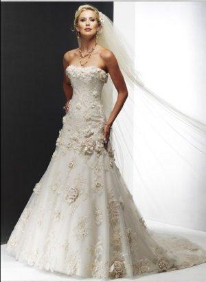 Wedding Dresses/ Wedding Gowns -- Gorgeous Strapless Wedding Dress SB0001
