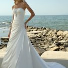 Wedding Dresses/ Wedding Gowns -- Asymmetrically Wraped Strapless Beach Wedding Dress SB0002