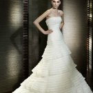 Wedding Dresses/ Wedding Gowns -- Tiered Strapless A-line Wedding Dress SB0013
