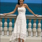 Wedding Dresses/ Wedding Gowns -- Stunning Strapless Lace T-length Wedding Dress WS0026