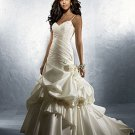 Ruffled Spaghetti Strap Ball Gown Wedding Dress AA0011