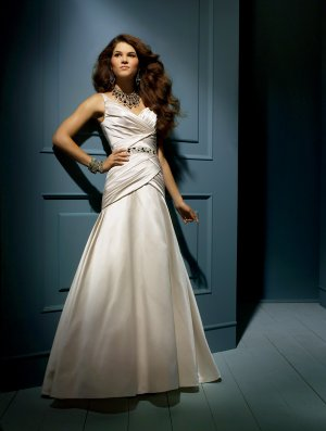 Wedding Dresses/ Wedding Gowns -- Beaded Spaghetti Strap A-line Wedding Dress AA0043