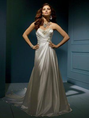 Wedding Dresses/ Wedding Gowns -- Stunning Beaded Strapless A-line Wedding Dress AA0046