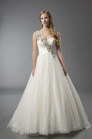 Spaghetti Strap Sweethearted A-line Wedding Dress AS0009