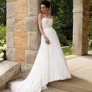 MC0032 Stunning Beaded Empire A-line Chiffon Wedding Dress