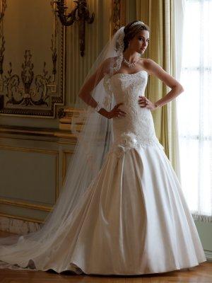 MC1003 Gorgeous Sweetheart Strapless A-line Wedding Dress