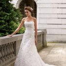 MC1005 Nice Beaded Strapless A-line Lace Wedding Dress
