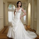 MC0037 Nice Beaded Stack-up Ball Gown Wedding Dress