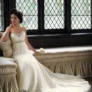 MC0043 Nice Beaded Sweetheart Strapless Empire A-line Chiffon Wedding Dress