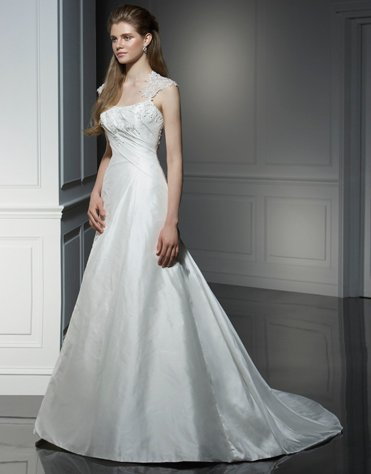 Wedding Dresses/ Wedding Gowns -- Hollow Back Bridal Gown WI8008