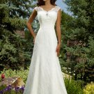 Wedding Dresses/ Wedding Gowns -- Cap-sleeve Lace Bridal Gown WK0050