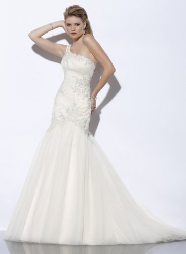 Wedding Dresses/ Wedding Gowns -- One-shoulder Bridal Gown KL0016