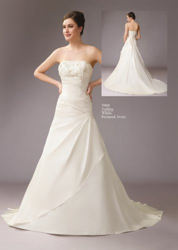 Nice Beaded Strapless A-line Wedding Dress AM0002