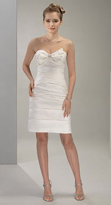 Wedding Dresses/ Wedding Gowns -- Strapless Mini Bridal Gown WS0037
