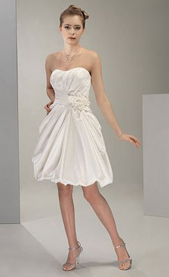 Wedding Dresses/ Wedding Gowns -- Strapless Mini Bridal Gown WS0038