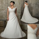 Wedding Dresses/ Wedding Gowns -- Cap-sleeve Plus Size Bridal Gown PS0002