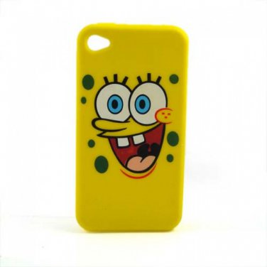 Spongebob  Soft Silicone Ipod Touch 4 4g 4th Generation Case Cover Big Face Yellow