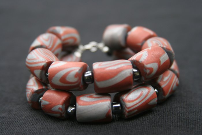 Steel and Copper Colored Bracelet