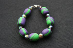Purple and Green Bracelet