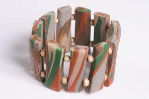 Gray Sand and Green Wrist Band