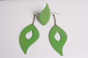 Grass Green Earrings and Ring