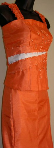 Orange/white 2piece Dress