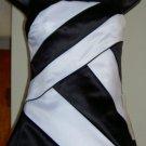 De Laru Black and White Prom Dress