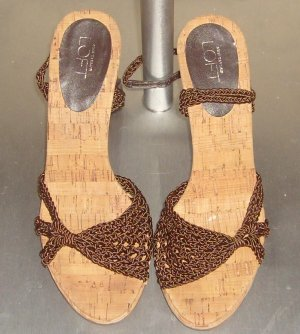 Brown Crochet Open-Toes Sandals by Ann Taylor Loft: Size ~ 7M