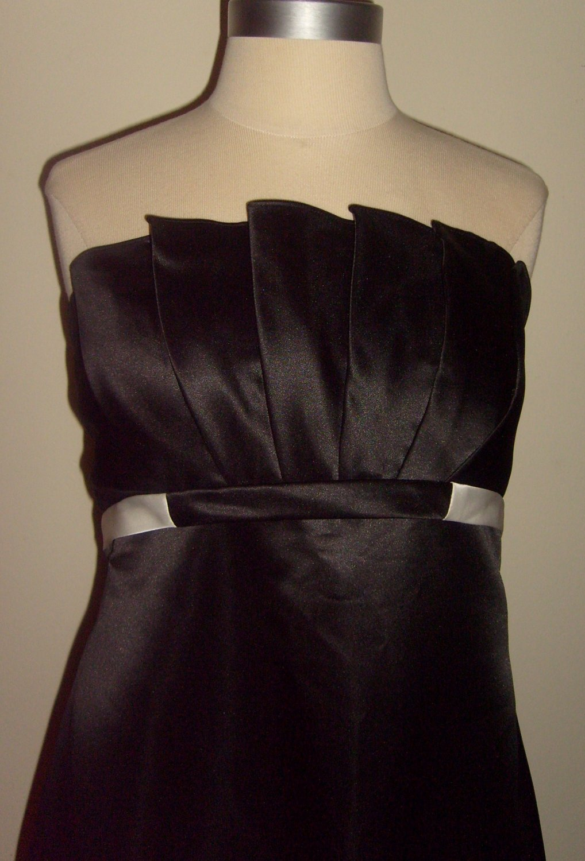 Bill Levkoff Strapless Black Bridesmaid Gown: Size 14 - SOLD!