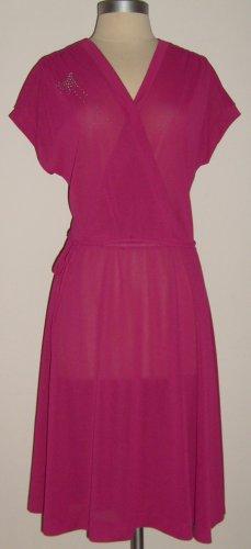 Jody of Californila Vintage Fuchsia Dress Size 14