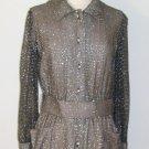 Harold Levine Vintage Sparkling Shirt Dress Size 8