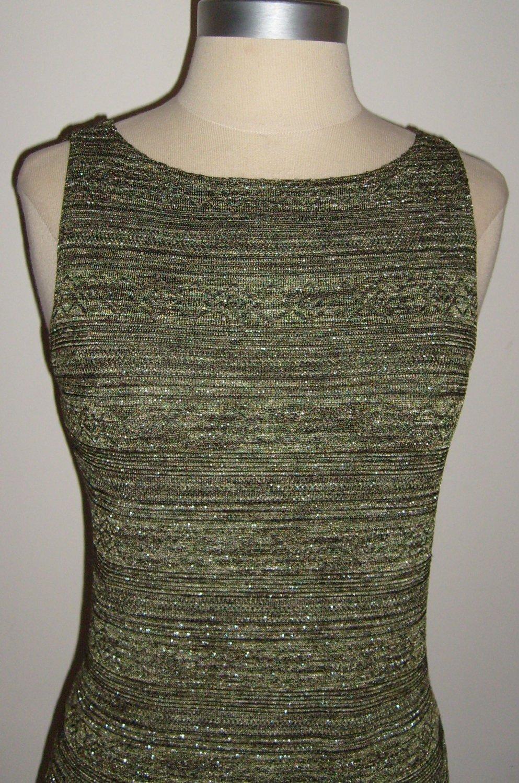 Aqua Blues Forest Green Metallic Tank Mini Dress Size 6 ~ SOLD