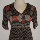 Vintage Papillon Floral Print Shirtwaist Dress Size 10