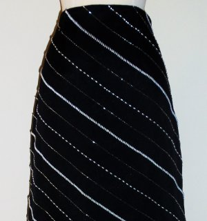 Vintage Black and White Long Skirt by Victoria