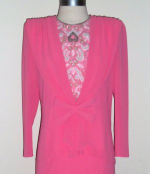 Ursula of Switzerland Vintage Pink Mother of the Bride Dress Size 10