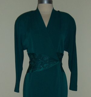 Daymor Couture by C. Mercedes Ferreira Green Wrap Dress Size 4