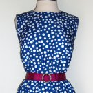 Signature Collection by Vicki Wayne Blue Polka Dot Dress Size 14p