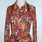 Vintage Retro Floral Print Shirt Dress Size 10
