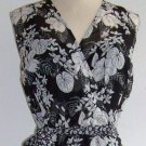 M.S.K Black & White Floral Chiffon Dress Size 10