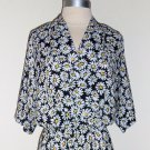 Sunflower Floral Print Dress by Willi of California Size 12