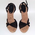 Black Crochet Open-Toes Sandals by Ann Taylor Loft: Size ~ 7M